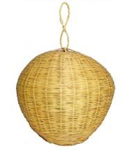 Lámpara esfera de caña