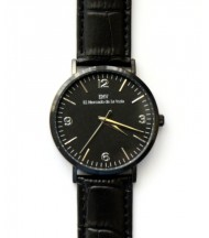 Reloj EMV S14 cocodrilo negro negro y negro