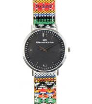 Reloj EMV S14 navajo I plata y negro
