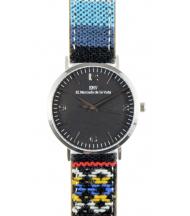 Reloj EMV S14 navajo II plata y negro