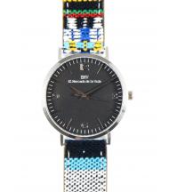 Reloj EMV S14 navajo V plata y negro