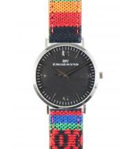 Reloj EMV S14 navajo VII plata y negro