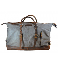 Travel bag Coronel Green canvas and leather