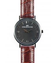 Reloj EMV S14 cocodrilo marrón negro y negro