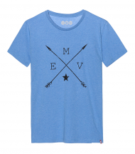 Camiseta azul flechas EMV
