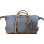Bolsa de viaje Coronel Grey de lona y piell