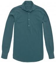 Camisa piqué polera verde cyan