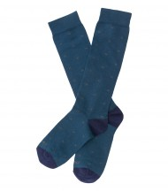 Calcetines largos EMV azul pato aspas gris
