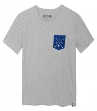 Camiseta Gris Bolsillo Flechas EMV