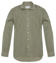 Camisa Lino Verde Caza