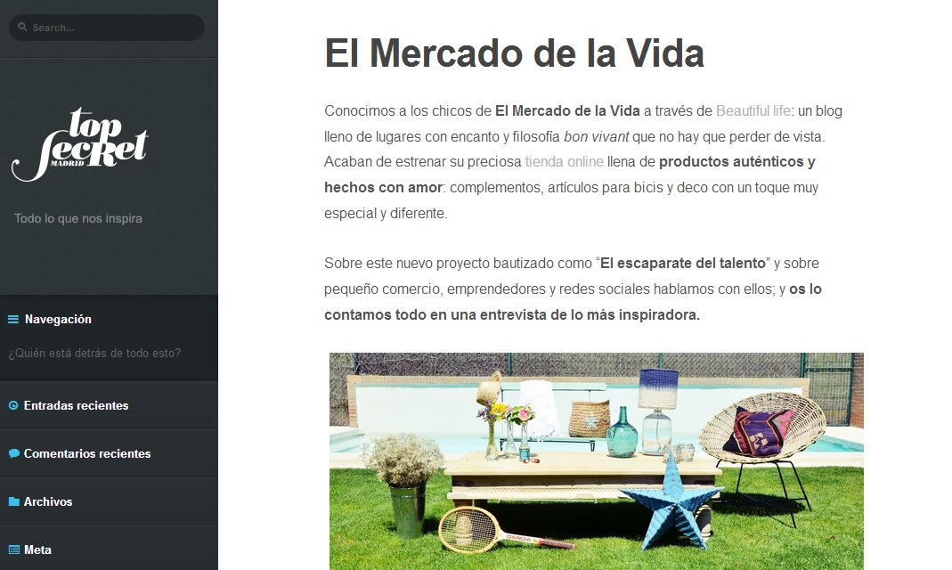 El Mercado de la Vida en Top Secret Madrid
