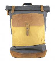 Backpack Canaima Grey de lona y piel