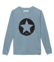 Sudadera azul vintage estrella EMV