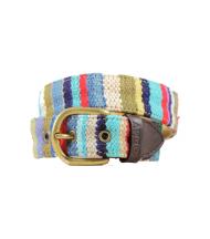 Cinturón Ethnos niño rayado azul