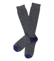 Calcetines largos EMV azul marino letras celeste